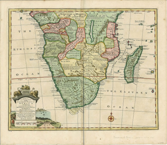 Accurate Map Of Africa.A New Accurate Map Of The Southern Parts Of Africa Auction 49