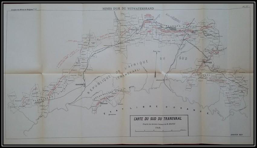 Etude technique sur les MINES d'Or du WITWATERSRAND (1897; First edition)