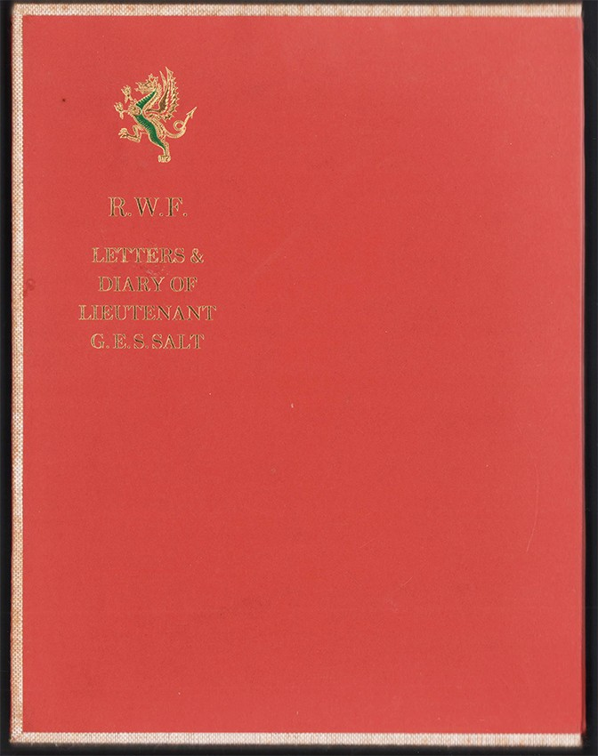 LETTERS AND DIARY OF LIEUTENANT G.E.S. SALT DURING THE WAR IN SOUTH AFRICA