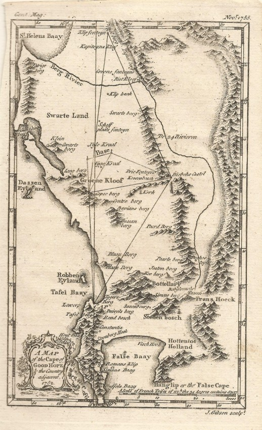 Map of the Cape of Good Hope and Environs
