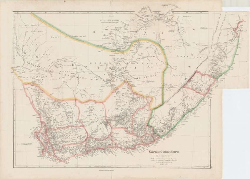 Cape Of Good Hope - Auction #55 | AntiquarianAuctions.com Cape Of Good Hope Map on
