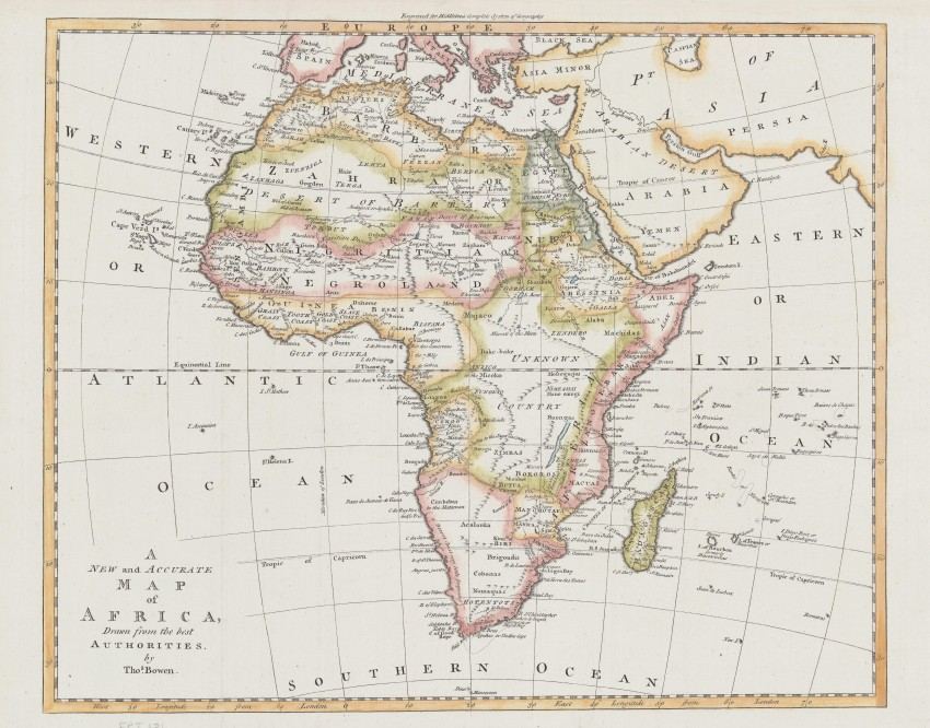 Accurate Map Of Africa.New And Accurate Map Of Africa Auction 56 Antiquarianauctions Com