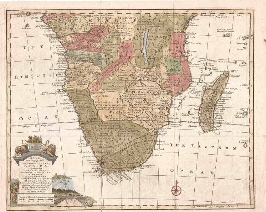 Accurate Map Of Africa.A New And Accurate Map Of The Southern Parts Of Africa Auction 60