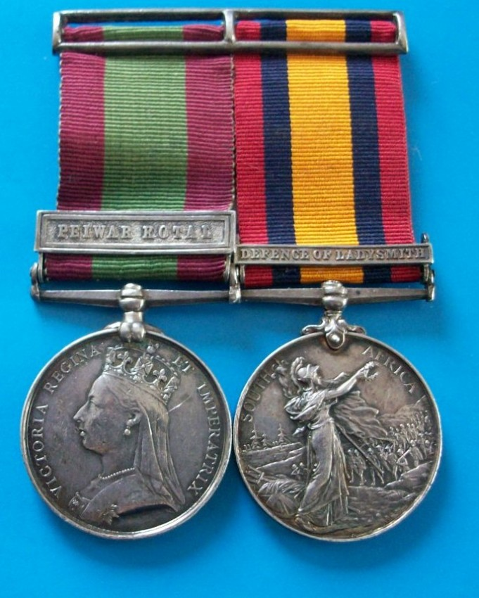 A Pair of Medals awarded to Colonel L.S. Mellor, Liverpool Regiment