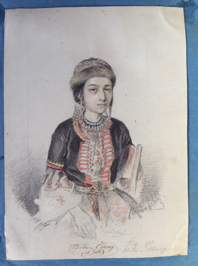 [MENNONITES & the NOGAI People]. An important Album of mounted original drawings and watercolours.