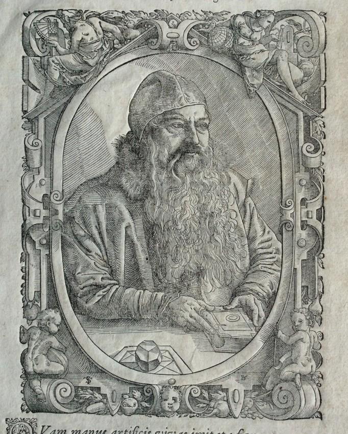 [Stephan Brechtel (1523-1574)] Effigies D. Stephani Brechtelii, Mathematicarum ... ex hac vita excessit, annum agens LI