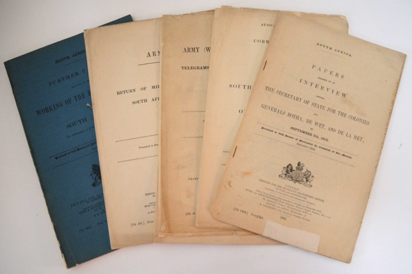 ANGLO-BOER WAR - COLLECTION OF BRITISH PARLIAMENTARY PAPERS 1900-1902