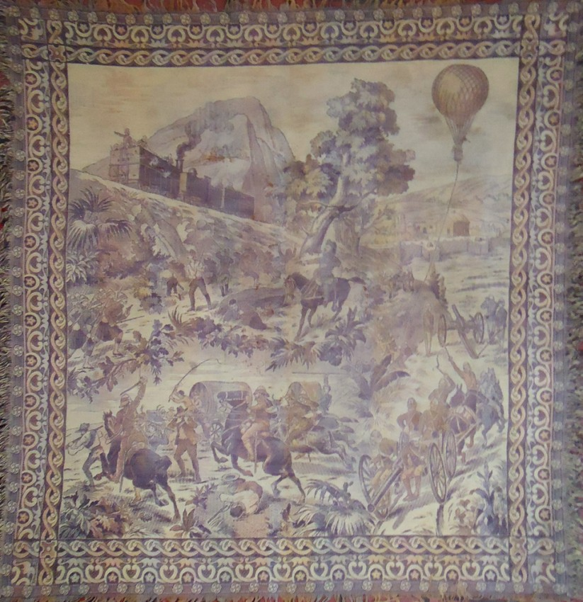 TAPESTRY DEPICTING VARIOUS ENGAGEMENTS OF THE WAR