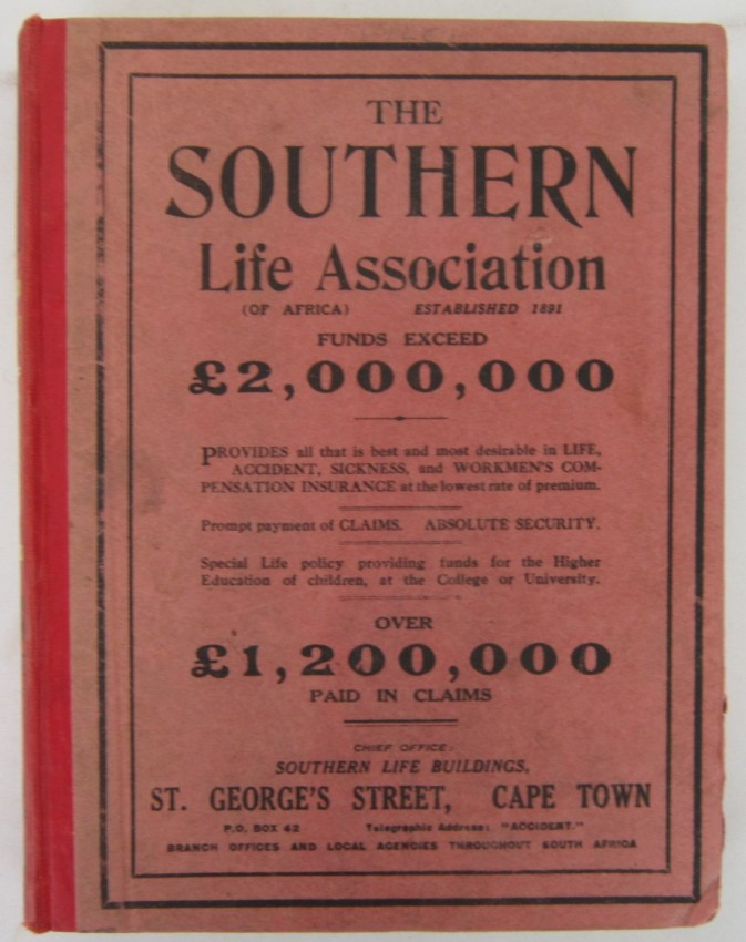 Donaldson & Braby's  Cape Town & Suburban Directory 1920.
