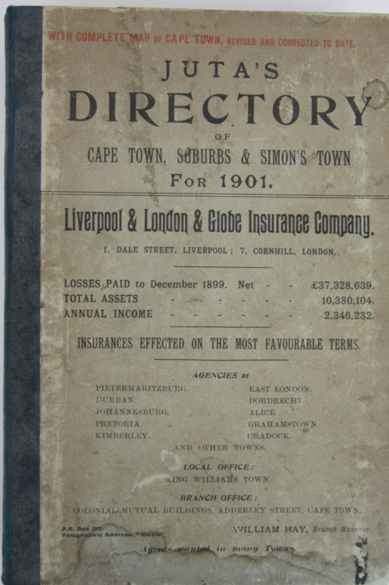 Juta's Directory of Cape Town, Suburbs and Simon's Town for 1901.