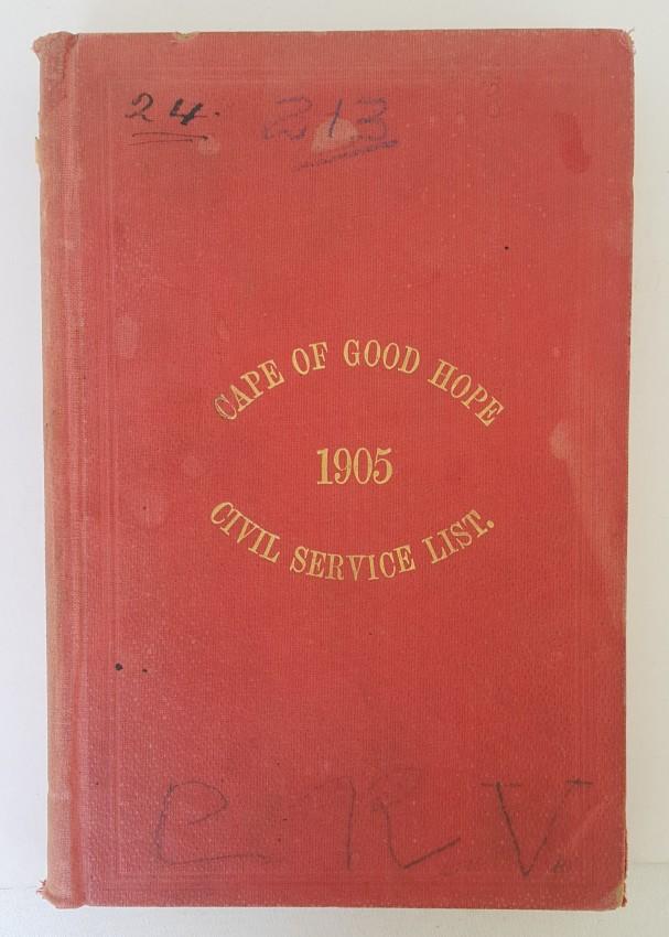 The Cape of Good Hope Civil Service List.