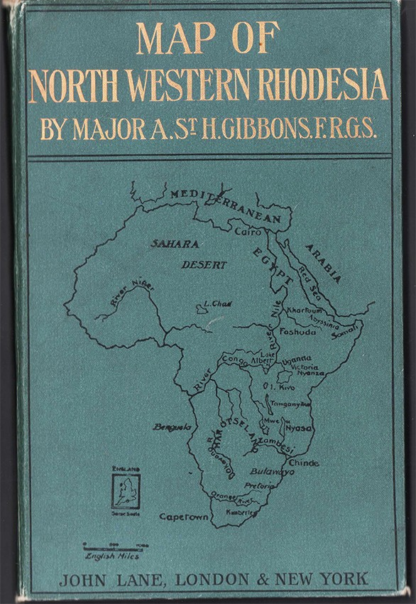 MAP OF NORTH WESTERN RHODESIA