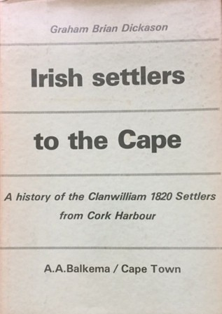 IRISH SETTLERS TO THE CAPE: