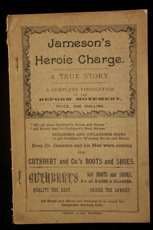 Jameson's Heroic Charge. A True Story. A Complete Vindication of the Reform Movement.