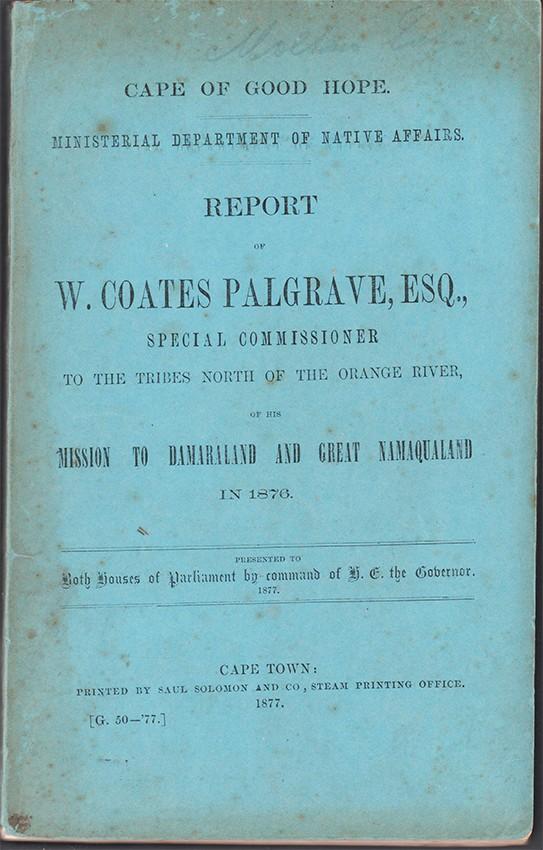 REPORT OF W. COATES PALGRAVE