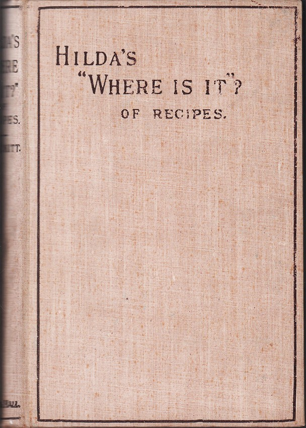 "HILDA'S ""WHERE IS IT?"" OF RECIPES"
