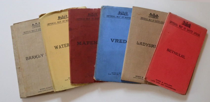 Seven Imperial Maps Of South Africa During The Boer War   Auction