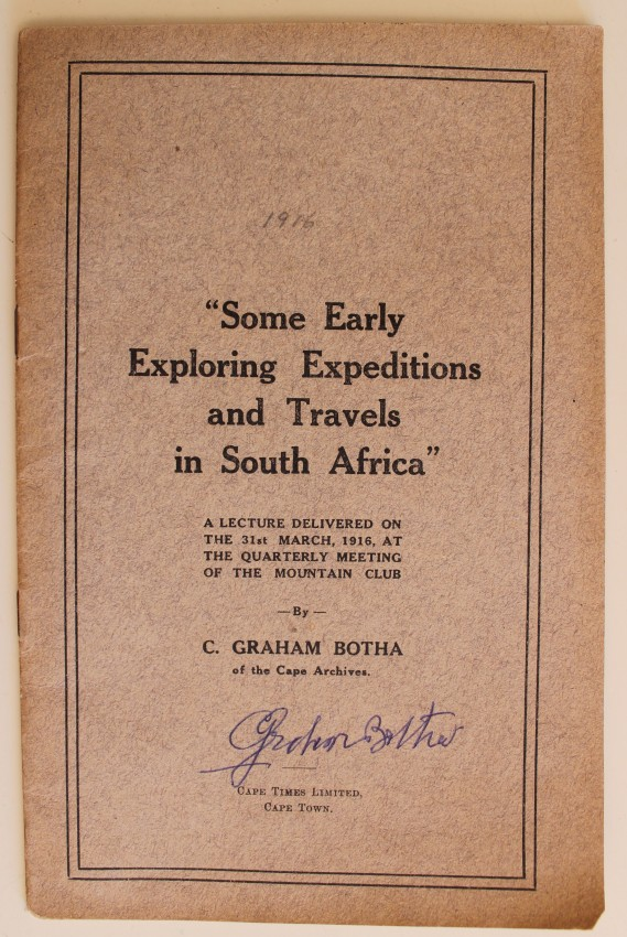 """Some Early Exploring Expeditions and Travels in South Africa"""