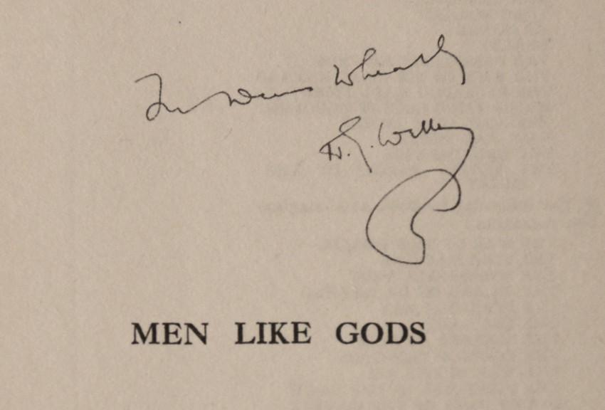MEN LIKE GODS - INSCRIBED TO DENNIS WHEATLEY