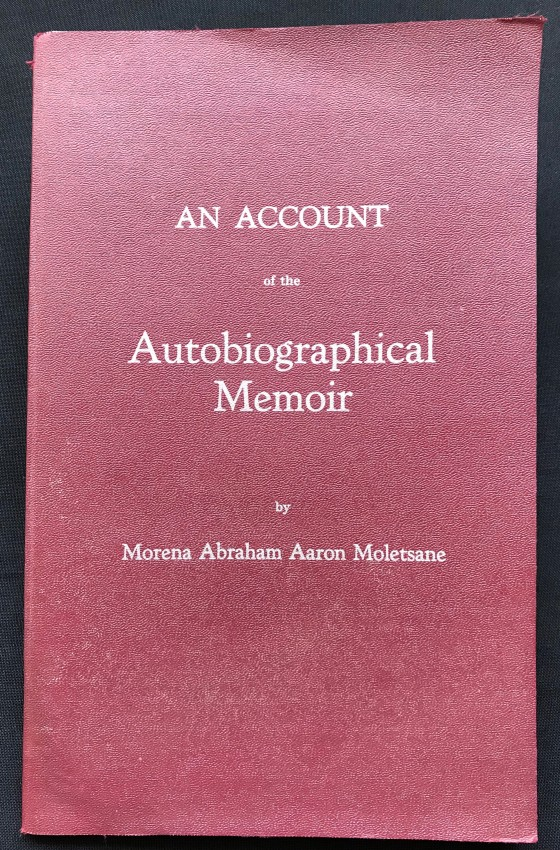 AN ACCOUNT OF THE AUTOBIOGRAPHICAL MEMOIR (UNCORRECTED PROOF COPY)