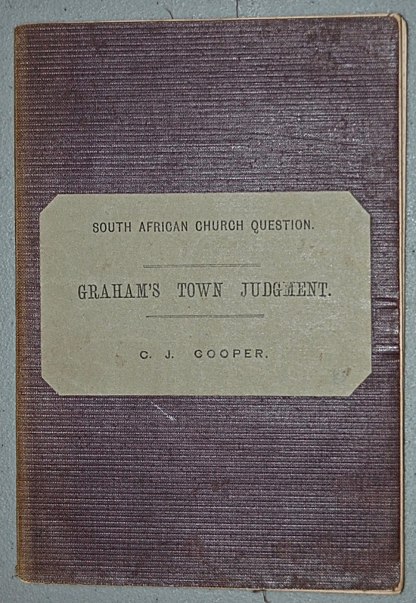 The South African Church Question.