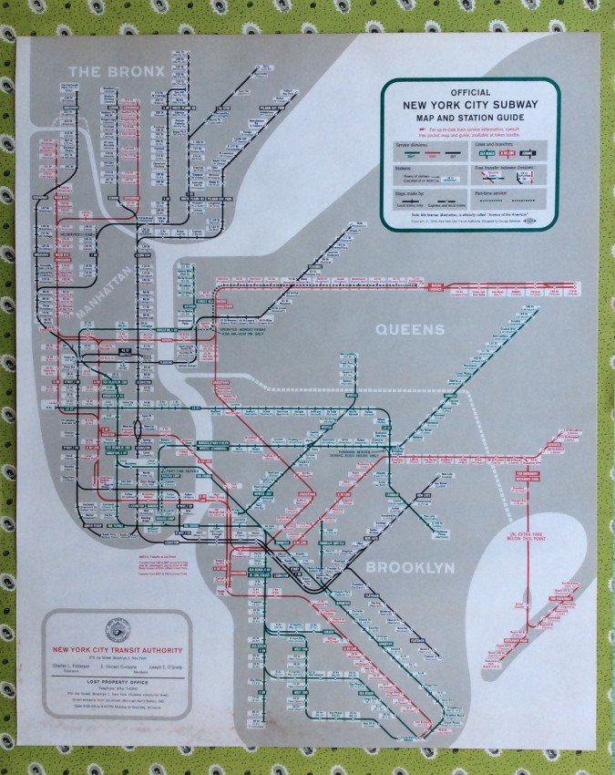 Official Ny Subway Map.Official New York City Subway Map And Station Guide Copyright