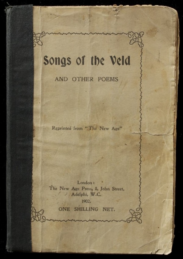 Songs of the Veld  (Anglo-Boer War book of Poetry)