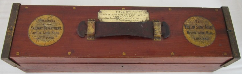 Box: Presented by Railway Department of the Cape of Good Hope, 23 July, 1908.