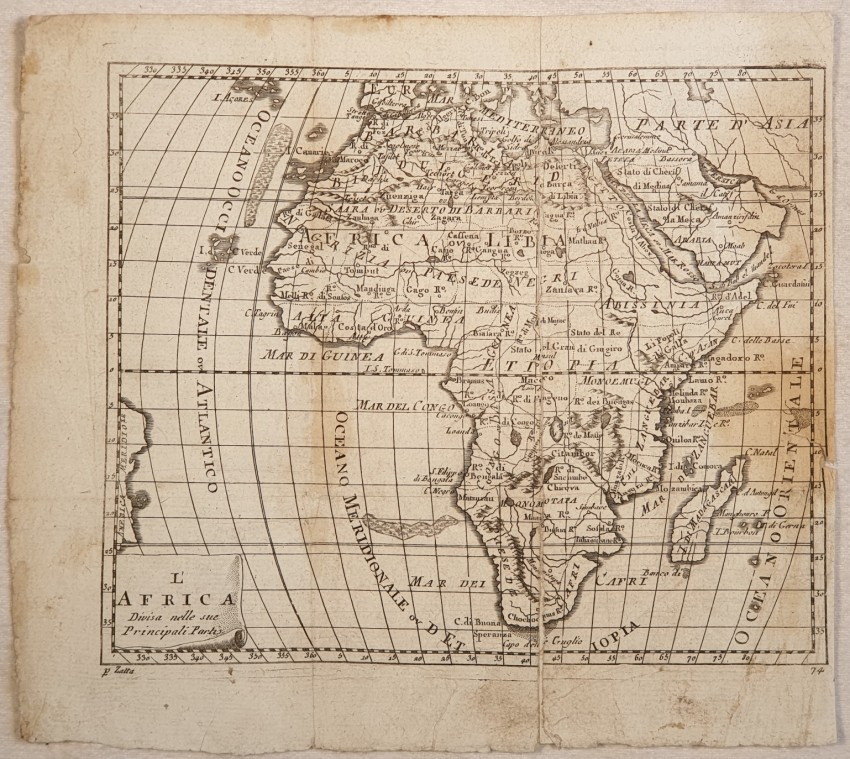 L'AFRICA DIVISA NELLE SUE PRINCIPALI PARTI