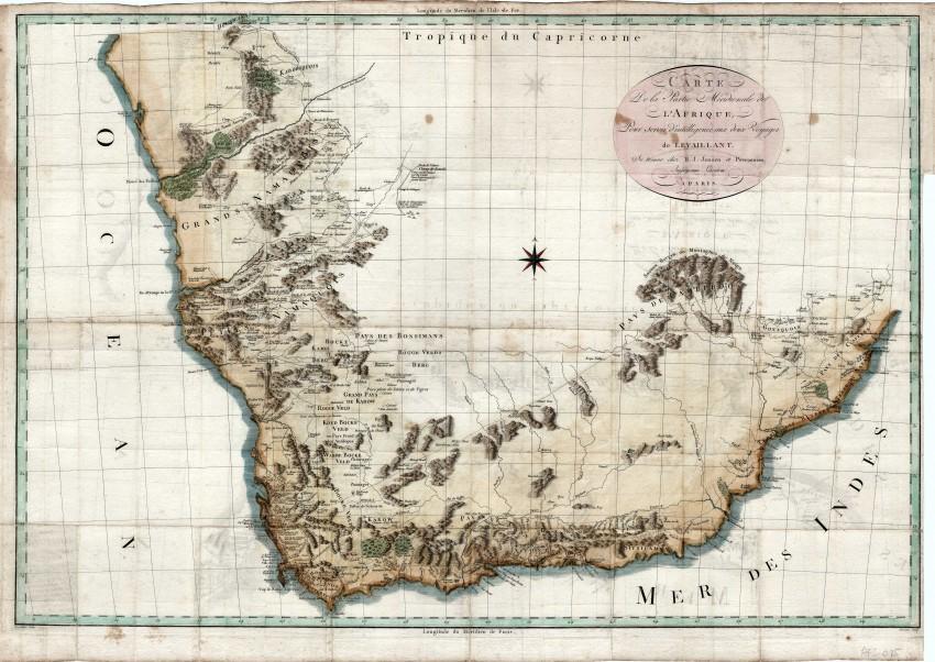 Carte de la partie meridionale del l'Afrique