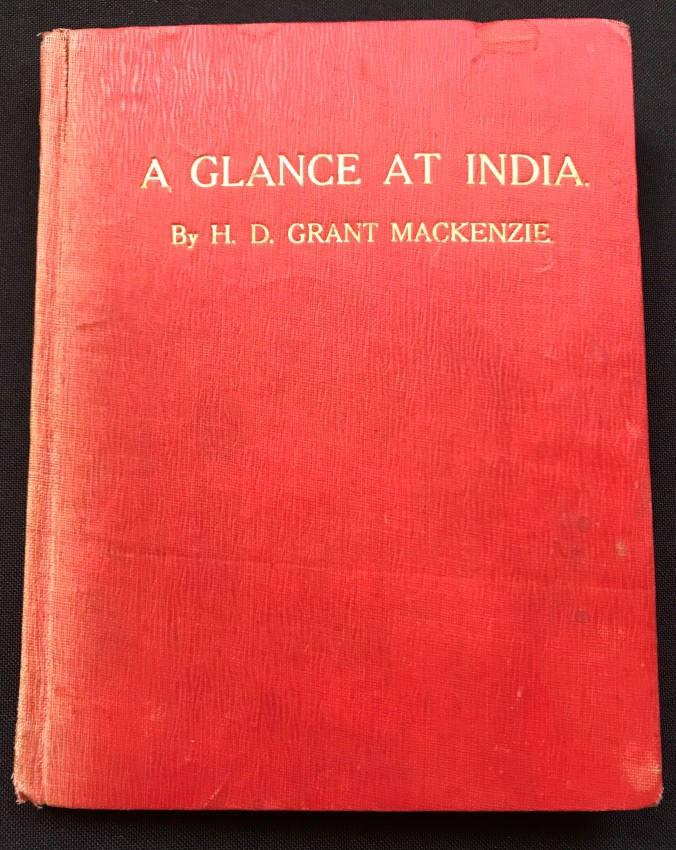 A GLANCE AT INDIA (SIGNED BY THE AUTHOR)