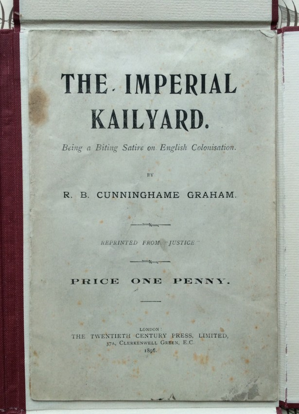 The Imperial Kailyard. Being a Biting Satire on English Colonisation.