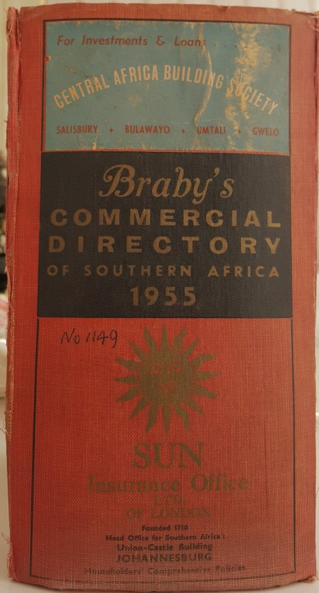 Braby's Commercial Directory of South, East and Central Africa. 1955.