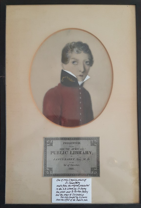 One of only three replicas of a miniature portrait of Dr. James Barry.