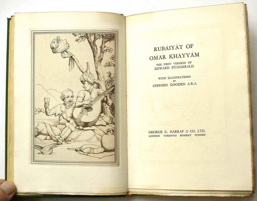 RUBAIYAT OF OMAR KHAYYAM - LIMITED DELUXE EDITION SIGNED BY STEPHEN GOODEN