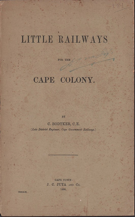 LITTLE RAILWAYS FOR THE CAPE COLONY