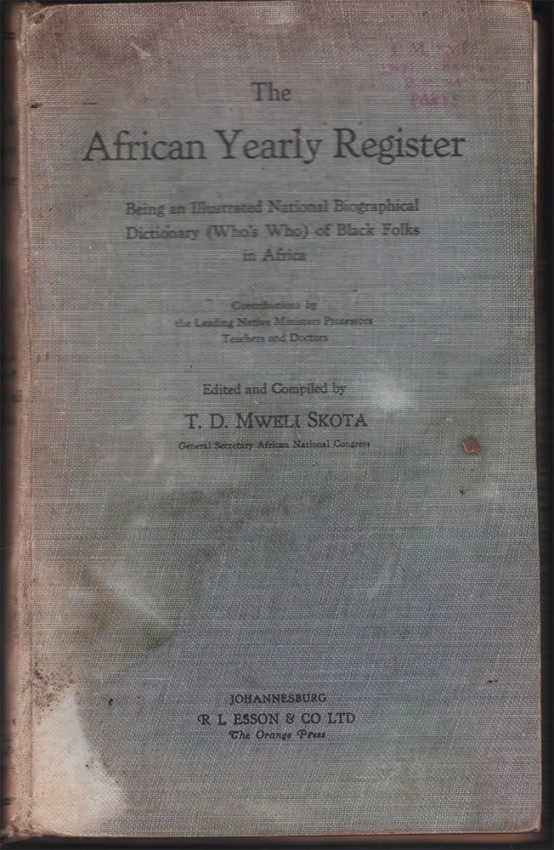 THE AFRICAN YEARLY REGISTER