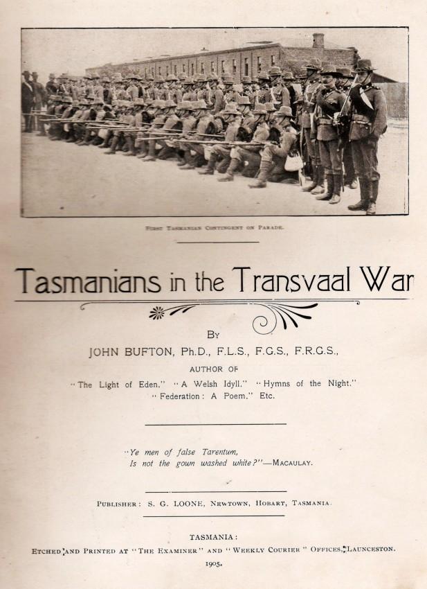 Tasmanians in the Transvaal War