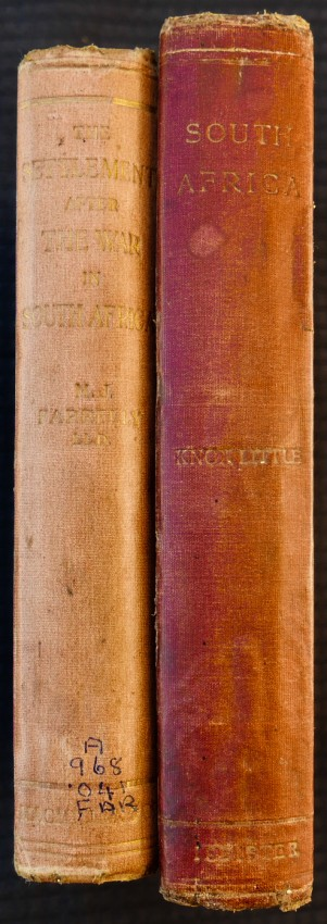 Lot of 2: THE SETTLEMENT AFTER THE WAR IN SOUTH AFRICA / SKETCHES AND STUDIES IN SOUTH AFRICA