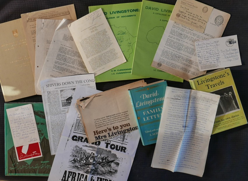 MIXED LOT: A COLLECTION OF BOOKS AND CORRESPONDENCE RELATING TO DAVID LIVINGSTONE (Bradlow Africana Collectanea)