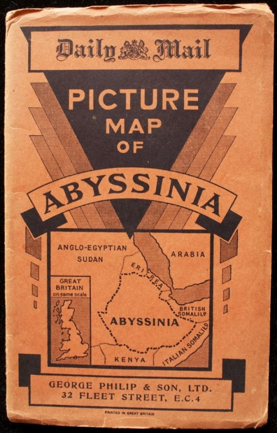 Daily Mail Picture Map of Abyssinia (Ethiopia) 1930's