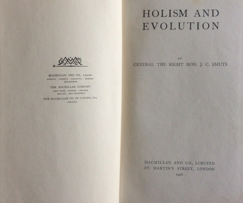 Holism and Evolution (first edition, 1926)