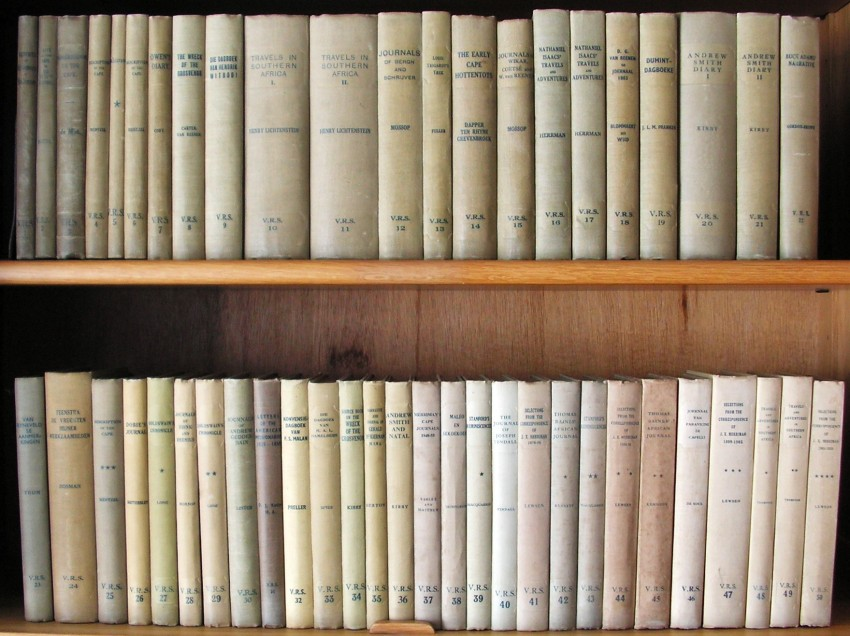 Van Riebeeck Society. Complete First Series of Fifty Volumes