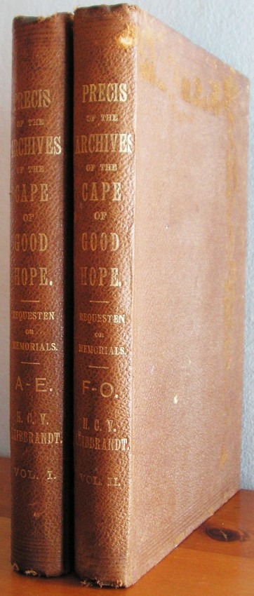 Precis of the Archives of the Cape of Good Hope. Requesten (Memorials) 1715-1806