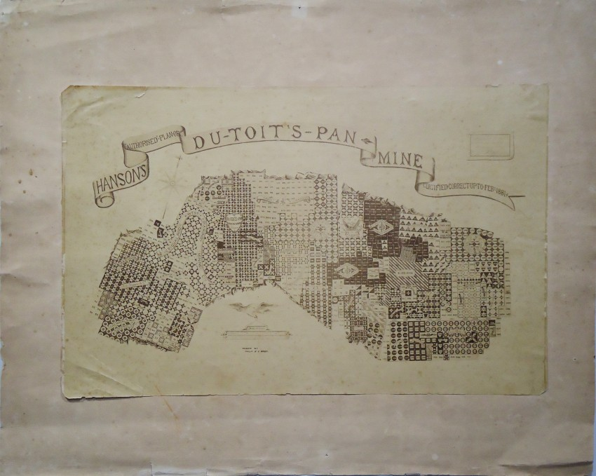 HANSON'S AUTHORISED PLAN OF DUTOITS- PAN MINE