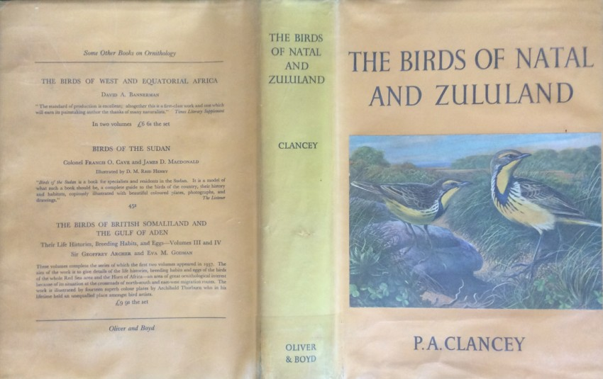 The Birds of Natal and Zululand (1964) (signed and dated)