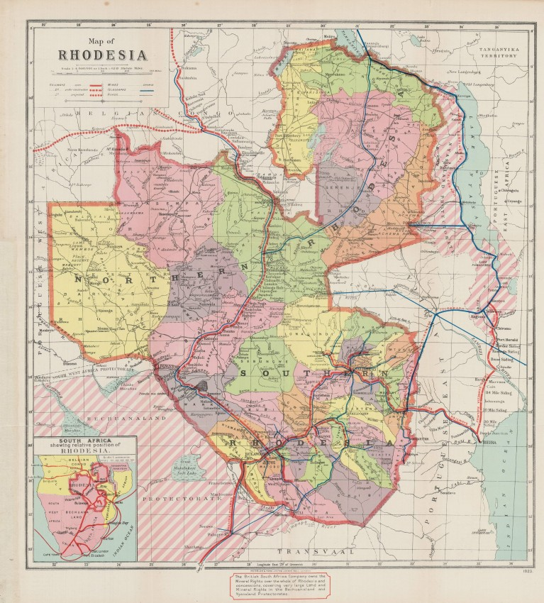 Map of Rhodesia