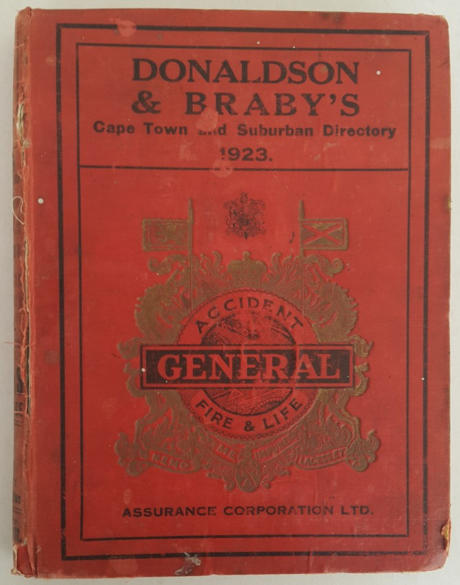Donaldson & Braby's Cape Town & Suburban Directory 1923.