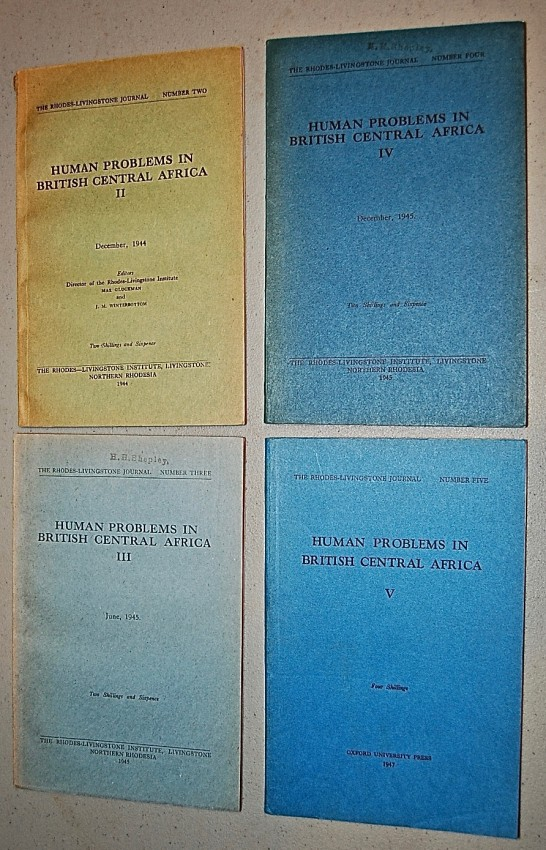 Human Problems in British Central Africa, Volumes II, III, IV, and V