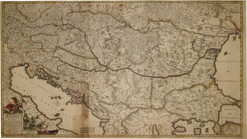 Regni Hungariae et regionum: Transilvaniae, Valachiae, Moldaviae, Serviae, Romaniae, Bulgariae, Bessarabiae, Croatiae,...